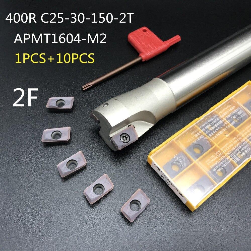 1P 400R-25-160L-C24-2T Indexable End milling Holder+10PCS APMT1604PDER-FM insert