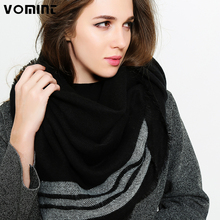 Vomint 2017 Women New Winter Warm Cashmere Scarf Female Galling Shawl Wind Color Three Striped Scarf Black White Free Shipping(China)