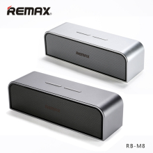 REMAX RB-M8 Portable Bluetooth4.0 Speakers Aluminum Wireless HandFree MIC Boombox Subwoofer USB AUX Port Loudspeaker Clear Bass