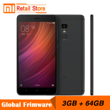 "Original Xiaomi Redmi Note 4 Pro 3GB RAM 64GB ROM 4G+ Mobile Phone 5.5"" MTK Helio X20 Deca Core Fingerprint ID 13.0MP 4100mAh"