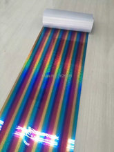 Newest Hot selling hologram/Laser cut heat transfer foil designs for garment special color free shipping