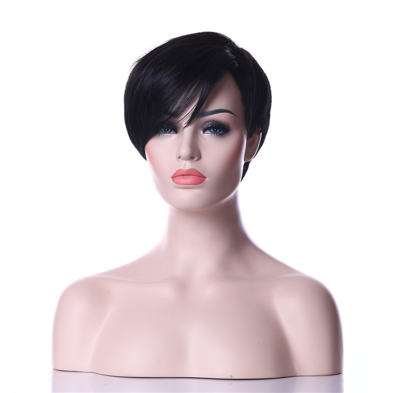 HAIRJOY High Quality Rihanna Classical Style Wig Black Short Straight Synthetic Hair  Free Shipping <br><br>Aliexpress
