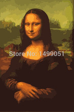 DIY Digital Oil Painting by Number Mona Lisa Oil Painting On Canvas 40x50cm for Home Decor(China)
