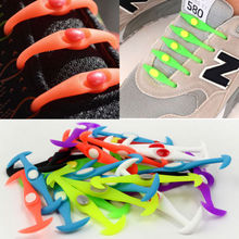 12Pc/Set Fashion Unisex Women Men Athletic Running No Tie Shoelaces Elastic Silicone Shoe Lace All Sneakers Fit Strap No tie(China)