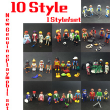 10 Style 7.5cm Playmobil Children's Pony Farm and Horse-drawn Carriage Take Along Modern Doll House Action Figure Kids Gift Toys(China)