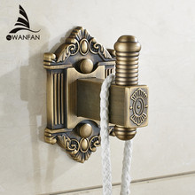 Robe Hooks Single Double Wall Hook Antique Brass Coat Rack Clothes Door Hanger Bathroom Kitchen Fittings Towel Holder WF-71201(China)