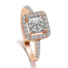 Big Promotion Real 18K Rose Gold /Platinum Plated SWA Element Austrian Crystal Engagement Rings Wholesale