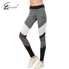 CHRLEISURE Sexy Mesh Leggings Women Workout Patchwork Leggins Casual Sporting Polyester Slim Leggings Pants Women S-XL 5 Color(China)