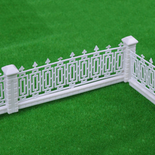 2017 NEW ABS plastic model garden hedge railing fence for sandy table model materials