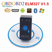 Super ELM327 V1.5 Power Switch For All OBD2 Protocol Diagnostic Scanner Tool ELM327 For Android Torque OBDII CAN-BUS Code Reader