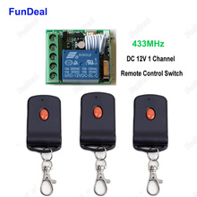 433MHz Door Lock Locking Vehicle Keyless Entry System 433 MHz DC12V 1Ch RF Wireless Remote Control Switch Receiver & Transmitter