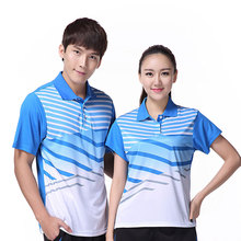 Free Print breathable quick-drying badminton shirt Men / Women , Table tennis shirt , sports Tennis t shirt female/male 3058AB(China)