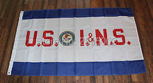 New US Immigration Naturalization Services Flag INS USA America American DoJ Indoor Outdoor Flag 3' x 5' Custom Flag