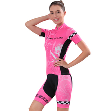 Summer Breathable Cycling Jerseys Set Womens Short Sleeve Bike Clothing SportsWear Bicycle Maillot Skinsuit Ropa MTB Jersey Kit