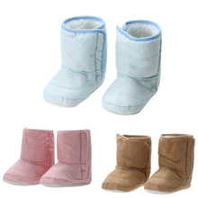 Super Warm Winter Baby Ankle Snow Boots Infant Toddlers Shoes Sneakers Pink Khaki Keep Warm Baby Shoes Antiskid First Walkers(China)