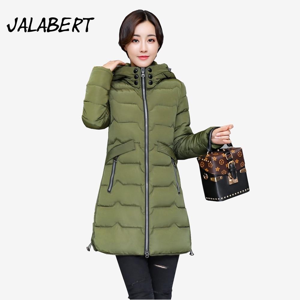 2017 new winter large size women cotton jacket Slim hooded Thicker long Zipper pocket Parkas coats overdress Îäåæäà è àêñåññóàðû<br><br>