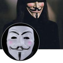 V Vendetta Costume Mask Guy Fawkes Anonymous Halloween Cosplay Parties Fancy PJW