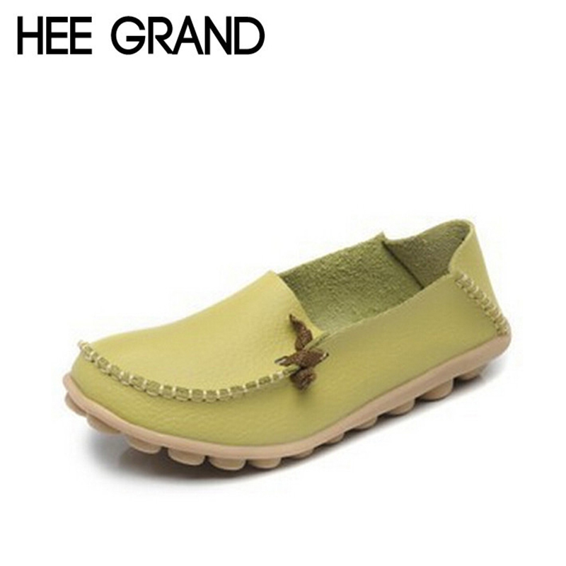 HEE GRAND New Women Flats Summer Style Casual Artificial Leather Platform Flats Spring Shoes Woman 4 Colors Size 35-40 XWC225<br><br>Aliexpress