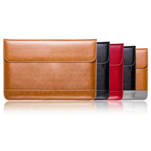 "Genuine Leather Flap 12"" 13"" 15"" Laptop Sleeve Bag Case Pouch for MacBook/MacBook Air/Pro PC Ultrabook Tablet Case bag"