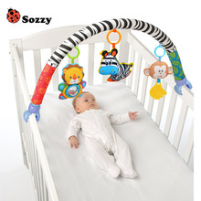 Genuine Authorized Sozzy Infant Baby Toys Crib Stroller Toy Cute Newborn Hanging Baby Rattle Ring Bell Soft Bed Pram Music Toy(China)