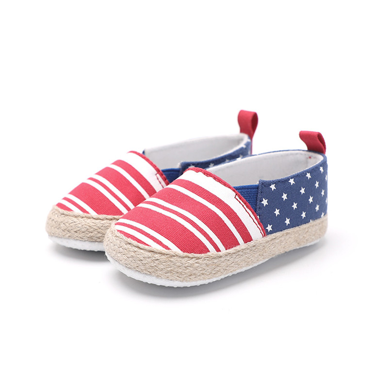 Baby Girl Shoes Toddler Infant Baby Girl Dot Striped Crib Shoes Soft Sole Anti-slip Single Shoes Baby First Walker Shoes M30#F (14)