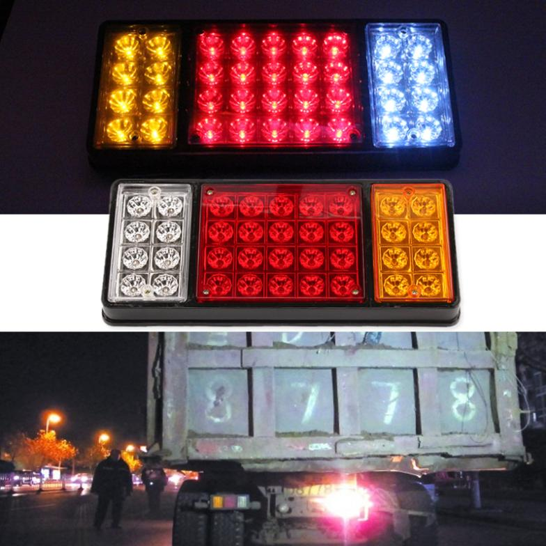 1 pair 36 LED 12V REAR Truck Auto Car Van Lamp Tail Light Trailer Stop Indicator Lamp Car Styling<br>