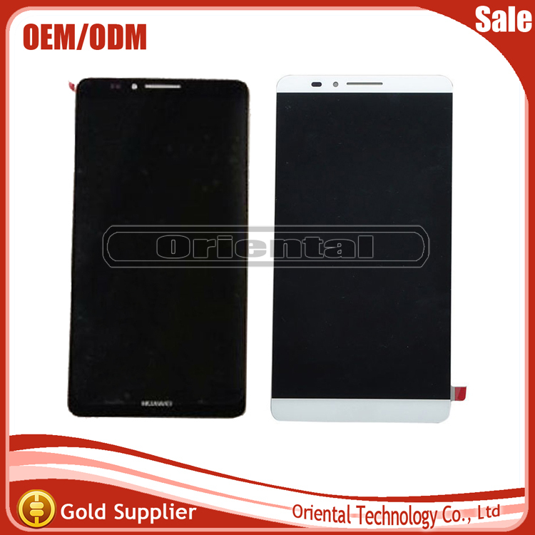High Quality For Huawei Ascend Mate 7 LCD Display+Touch Screen Digitizer Black White Golden Color<br>