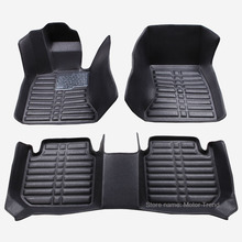 Custom fit car floor mats for Land Rover Discovery 3/4 freelander 2 Range Rover Sport  Evoque 3D car styling carpet liner RY215