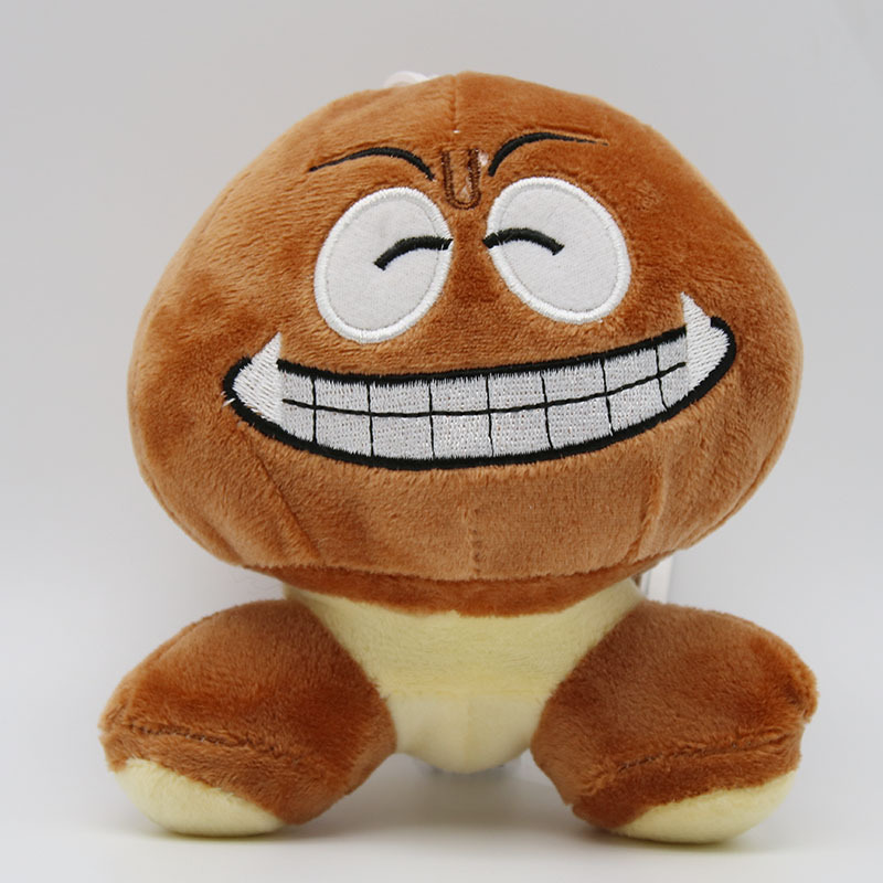 Super Mario Bros Goomba Plush Toys Game Cartoon Poisonous Mushrooms Soft Stuffed Dolls 5pcslot  (4)