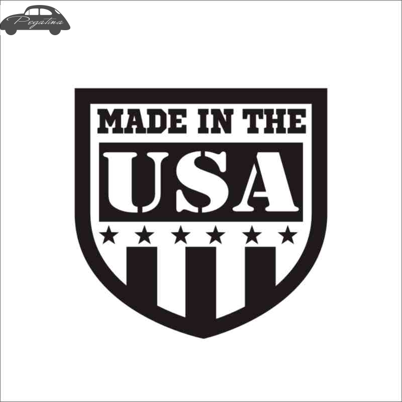 Pegatina Made in USA Decal Sticker Car Window Vinyl Decal Funny Poster Motorcycle