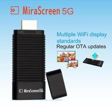 TV Stick MiraScreen 5G Dongle 5G DLNA Airplay HDMI Miracast Air Mirroring High Speed Transmission WiFi Wireless Display Receiver