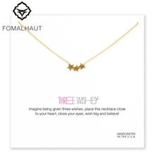 three wishes triple star Pendant necklace Clavicle Chains fashion Statement Necklace Women FOMALHAUT Jewelry(China)