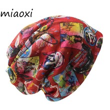 miaoxi New Style Female Knit Fashion Women Hat Polyester Autumn Scarf Two Used Lady Caps Skullies For Girl's Bonnet Warm Hats