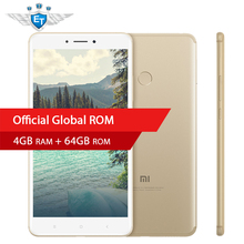 "Original Xiaomi Mi Max 2 Mobile Phone 4GB RAM 64GB Phablet Snapdragon 625 Octa Core 6.44"" 1080P 12.0MP IMX386 5300mAh Battery(China)"
