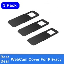 FULCOL 3 PACK WebCam Cover Sluiter Magneet Slider Plastic Universele Camera Cover Voor Web Laptop iPad PC Mac Tablet Privacy sticker(China)