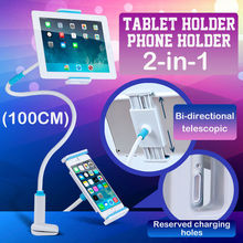 100cm Length Flexible Arm Tablet PC Stand 360 Rotation Mobile Phone Holder Lazy Bed Table Bracket for iPad Mini 3.5-10.6 inch(China)