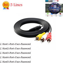 3RCA HD AV Cable 5 line Clines for DVB-S2 Satellite Receiver Middle East Europe Supported Cccam(China)