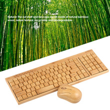 Creative 2.4G Wireless Bamboo PC Keyboard and Mouse Combo Computer Keyboard Handcrafted Natural Wooden for laptop pc office mac(China)