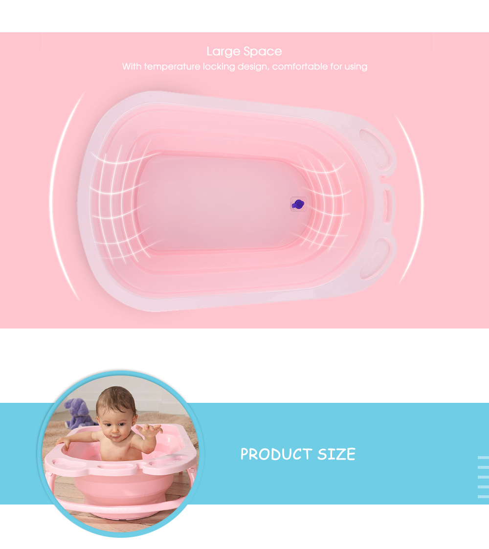 3 Colors Portable Folding Baby Bath Tub Large Size Anti-Slip Bottom Non-Toxic Material Children Bathtub Bucket for Baby Bathing (7)