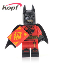 2Super Heroes Set Model Chinese Batman Black Lantern Suit Action Bricks Building Blocks Collection Toys children XH 402 - Minifigures store