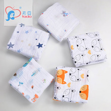 tado Baby Muslin Blanket Cotton Muslin Baby Swaddle 120x120cm Blankets Wrap Newborn Soft Kids Bedding Sleeping Blanket Character(China)