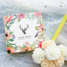 13.5*13.5*5cm 10pcs forest deer design Paper Box Cheese candy Cookie valentine gift Packaging Wedding Christmas Use