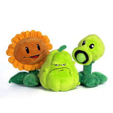 12 inch Kawaii Plants vs Zombies Plush Toys Pea Shooter Sunflower Squash Soft Children Plush Toy Kids Gift Stuffed Teddy Doll(China)