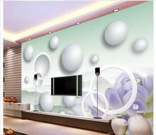 Customized 3d wallpaper 3d wall murals wallpaper Chinese wind flowers 3 d TV wall paintings 3d mural wallpaper decoration(China)