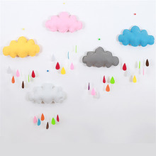 36*21CM Creative Cloud Cushion Super Soft Toy Handmade Clouds Decorations Raindrops Children 's Hanging Window Straps 6 Colors