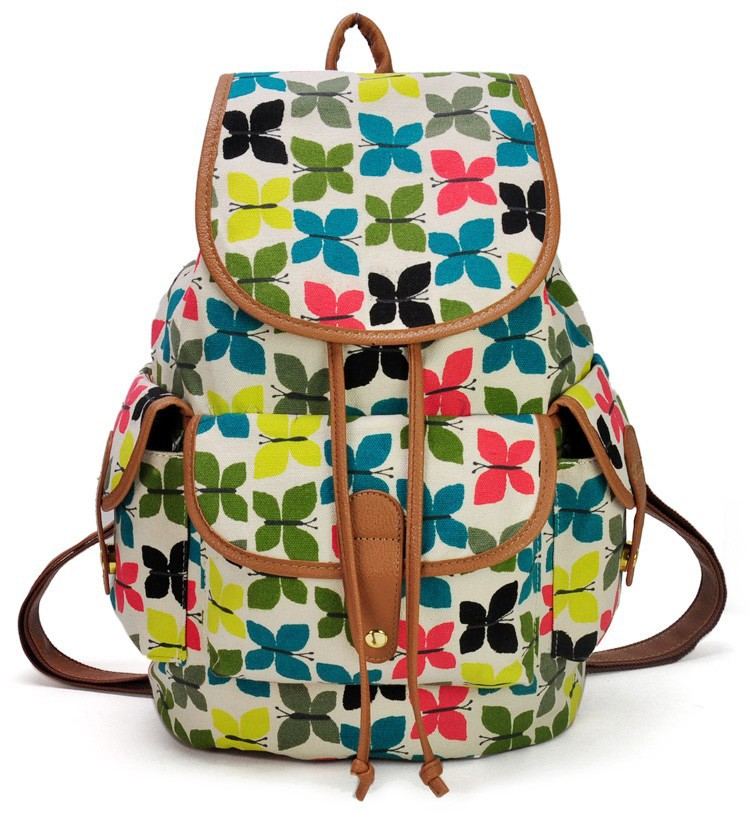 ZIWI Brand New Arrival PU &amp;Canvas Animal Print Bird Women Backpack School Backpacks Multicolor FF7702<br><br>Aliexpress