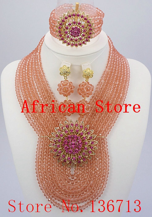 Fashion New Dubai Jewelry Set Bridal Jewelry Sets Statement Necklace African Beads Jewelry Set Free Shipping SD802-1