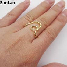 3pcs Simple rolling tides wave Rings Lover's Ring trendy women rings Lovely Friend Gift SanLan(China)
