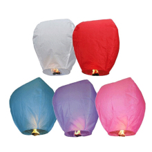 10pcs/lot Chinese Kongming Paper Lantern Mixed Color Flying Sky Lanterns Paper for Wedding Birthday Party Celebration(China)