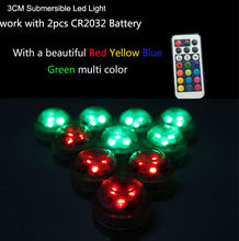 20PCS/ Pack Submersible RGB Color Changing Led Light Small Battery Mirco Landscape Accessory Wedding Holiday Party Decoration(China)